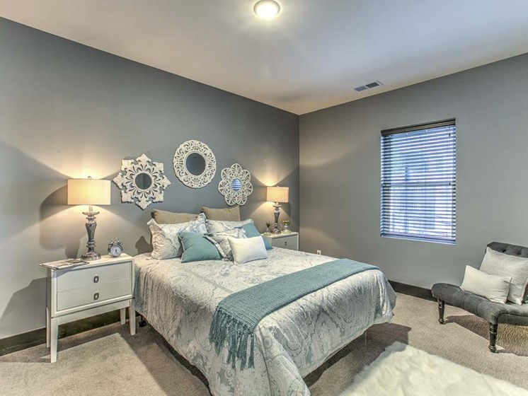 Beautiful furnished bedroom at The Helen