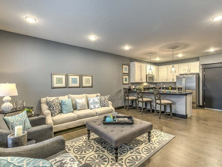 Beautiful furnished living space at The Helen