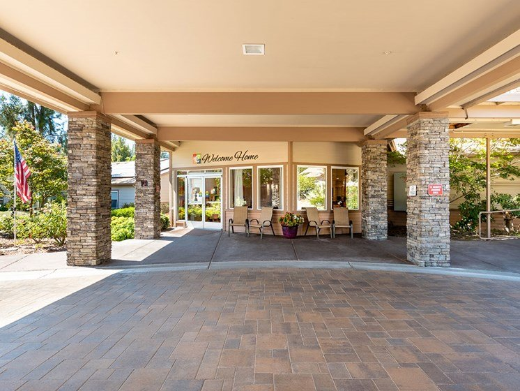 Wheelchair Accessible No-Step Entry at Healdsburg, A Pacifica Senior Living Community, California