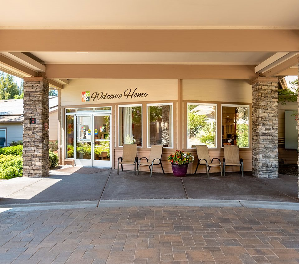 Appearance Of Main Entry at Healdsburg, A Pacifica Senior Living Community, California, 95448