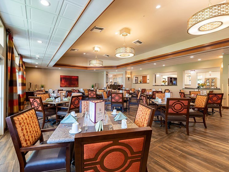 Defined Dining Area at Healdsburg, A Pacifica Senior Living Community, California, 95448