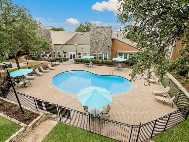Pool Seating for Sunning at NewForest Estates, San Antonio, Texas