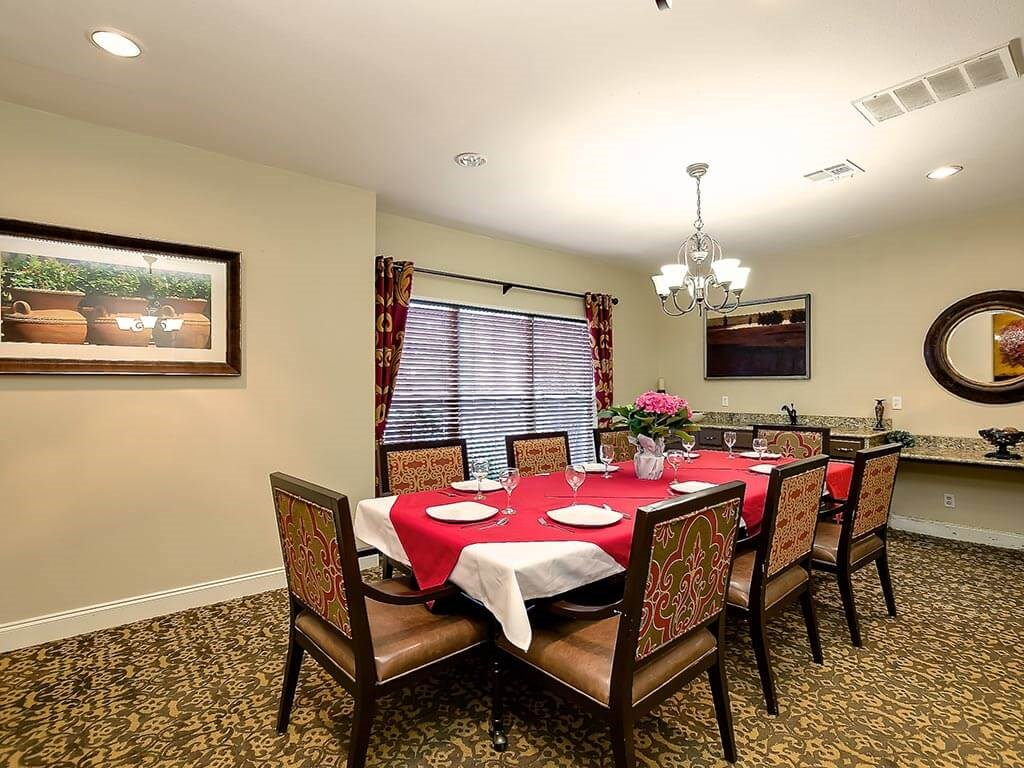 Formal Dining Room Nutritious Meals at NewForest Estates, San Antonio