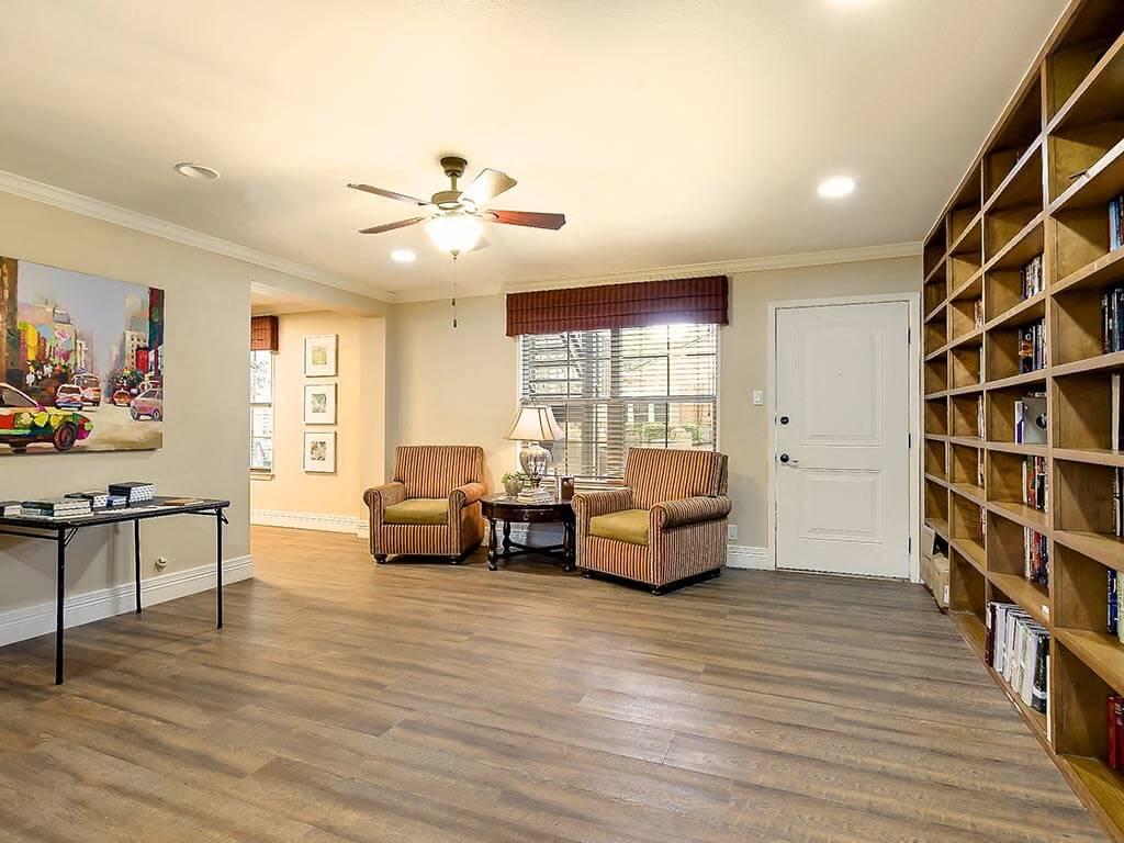 Reading Library at senior community of NewForest Estates, San Antonio, Texas