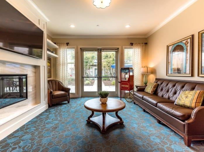 Classic Living Room Design at Pacifica Senior Living Mission Villa, Daly City, California