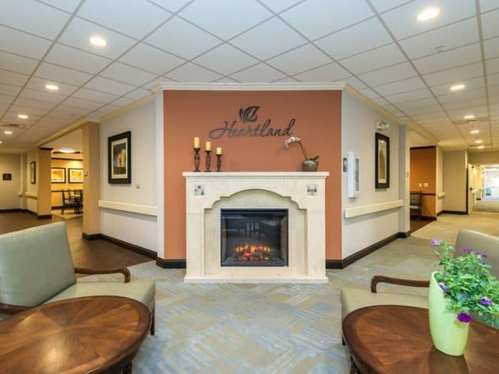 Fireplace Sitting Area in Pacifica Senior Living Santa Fe, NM