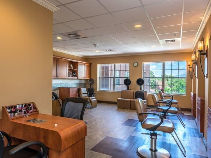 Beauty Salon on location for haircuts at Pacifica Senior Living Santa Fe in Santa Fe, NM
