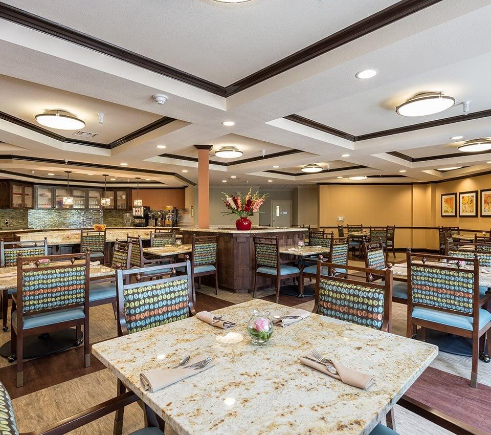 Restaurant Style Dining Room for Healthy Meals at Pacifica Senior Living Santa Fe, Santa Fe, 87505
