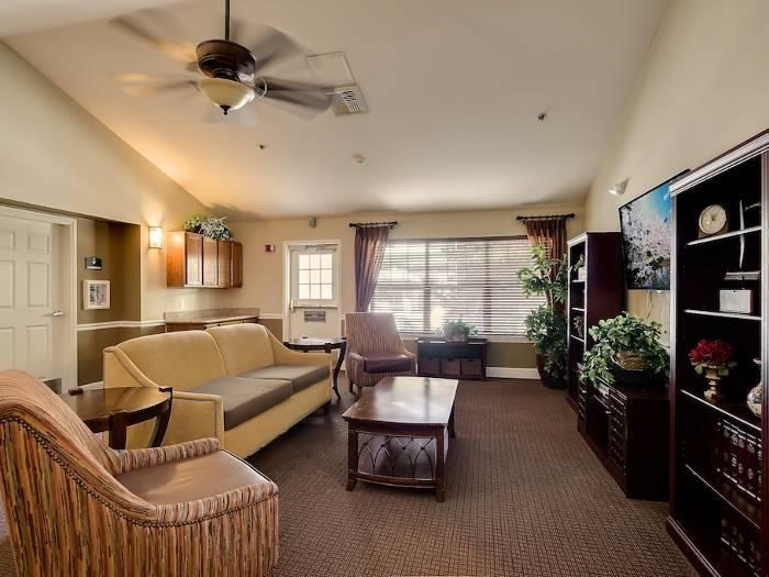 Legacies offers two sitting areas where a resident can sit and enjoy the music in a quiet area or watch a movie of their choice