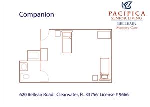 Companion Floor Plan at Pacifica Senior Living Belleair, Clearwater