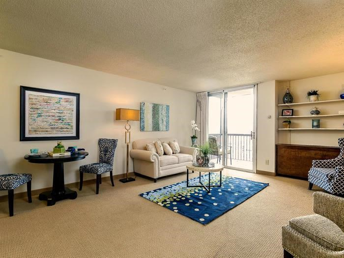 Decorated Living Room at Pacifica Senior Living Calaroga Terrace, Portland, 97232