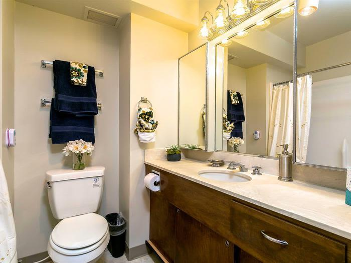Pristine Updated and Accessible Bathrooms at Pacifica Senior Living Calaroga Terrace, Portland