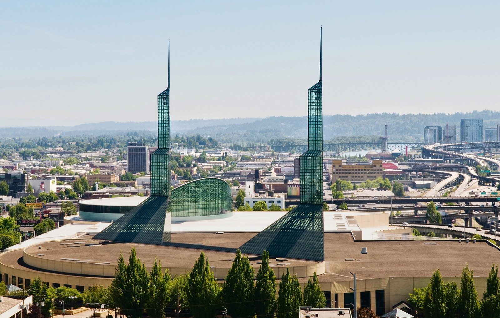 City views of Towers at Pacifica Senior Living Calaroga Terrace, Portland, 97232