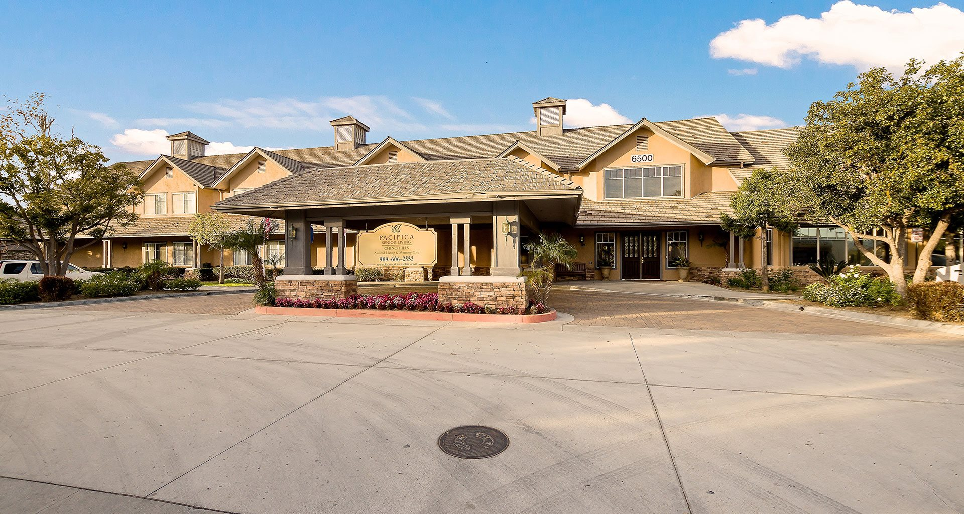 Grand Entrance To Property at Pacifica Senior Living Chino Hills, California, 91709
