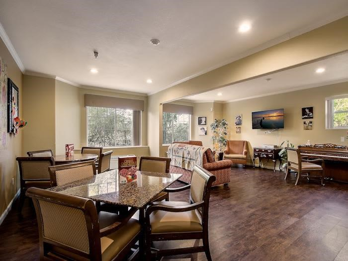 Peaceful Community Dining area at Pacifica Senior Living Chino Hills in Chino Hills, California