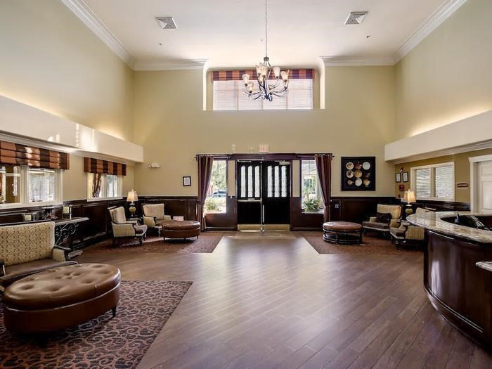 Elegant Common room at senior living facility in Chino Hills, California
