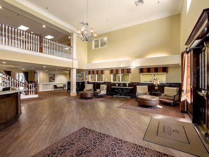 Resort-style Common room at senior living facility in Chino Hills, California