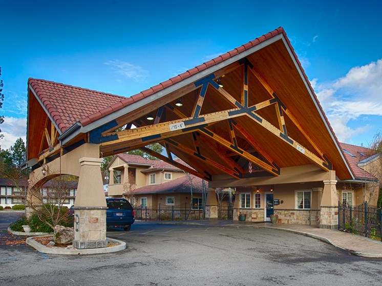 Entry Gate To The Property at Courtyard at Coeur d'Alene, Coeur d Alene, Idaho, Pacifica Senior Living