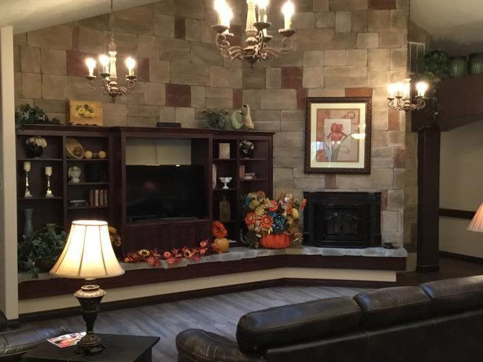 Cozy living room at apartments in Coeur d'Alene, Idaho, Pacifica Senior Living