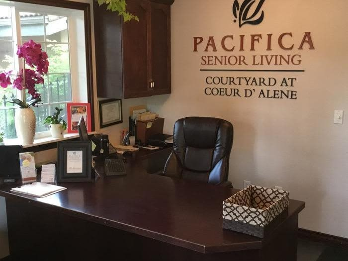Staffed Reception Area at Pacifica Senior LIving, Courtyard at Coeur d'Alene in Coeur d'Alene