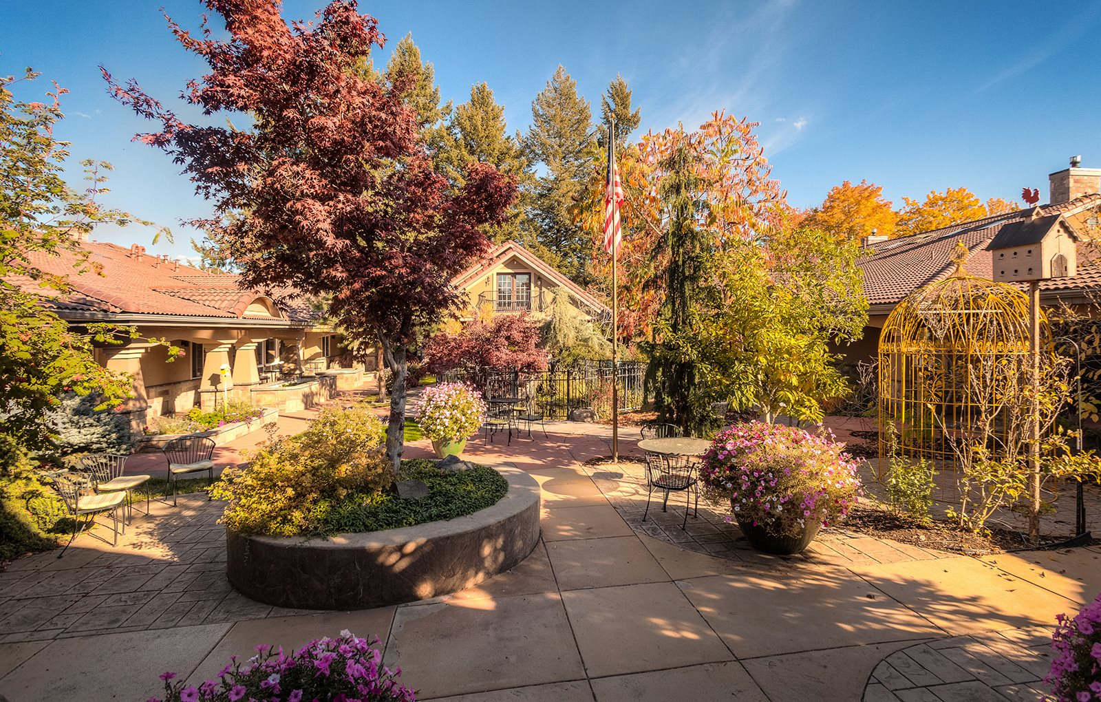 Exquisite Landscaped Courtyard at Courtyard at Coeur d'Alene, Idaho