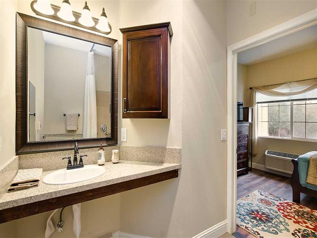 Bathroom updated at Pacifica Senior Living Country Crest in Oroville, CA
