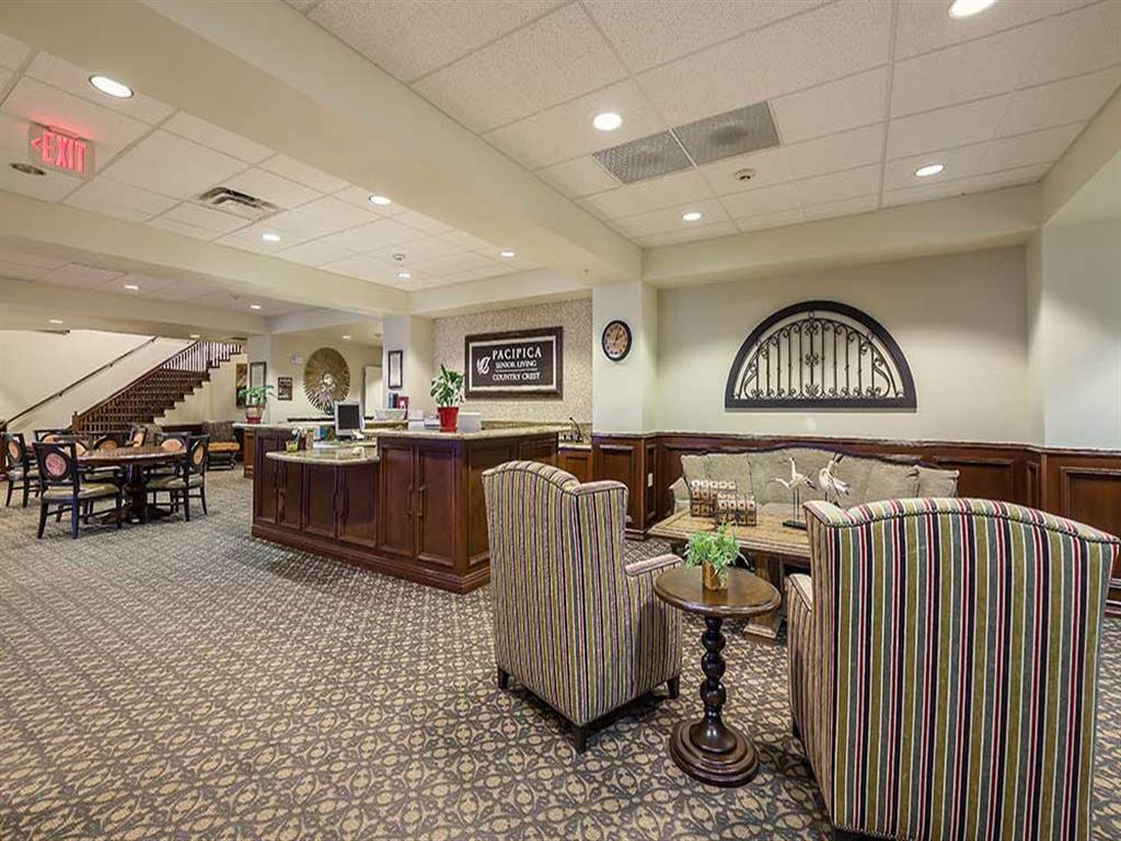 Lobby of Pacifica Senior Living Country Crest
