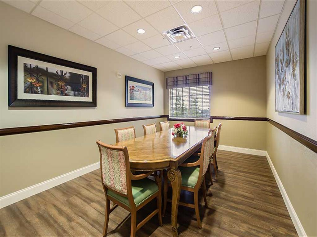 Private dining rooms available at Pacifica Senior Living Country Crest in Oroville