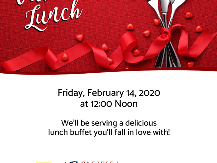Valentine Lunch at Pacifica Senior Living Country Crest, Oroville, California