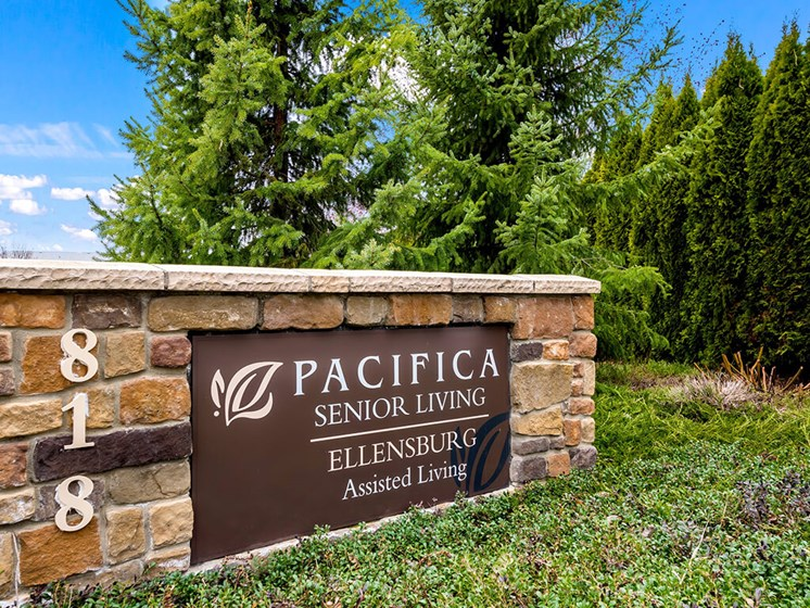 Property Signage at Pacifica Senior Living Ellensburg, Ellensburg