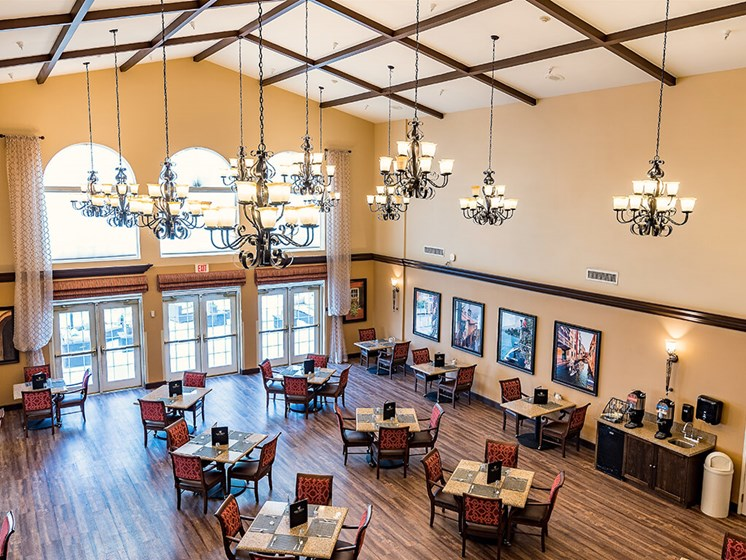 Modern Light Fittings in Clubroom at Pacifica Senior Living Ellensburg, Washington, 98926