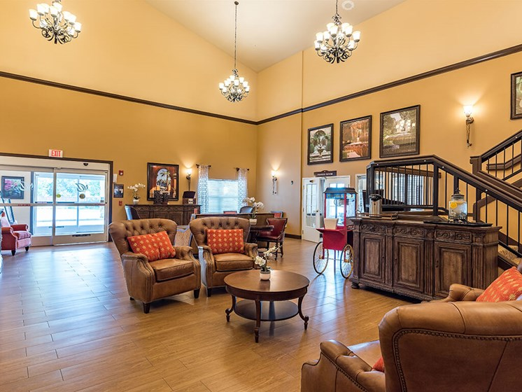 Decorated Lounge Area for Socializing at Pacifica Senior Living Ellensburg, Ellensburg, 98926