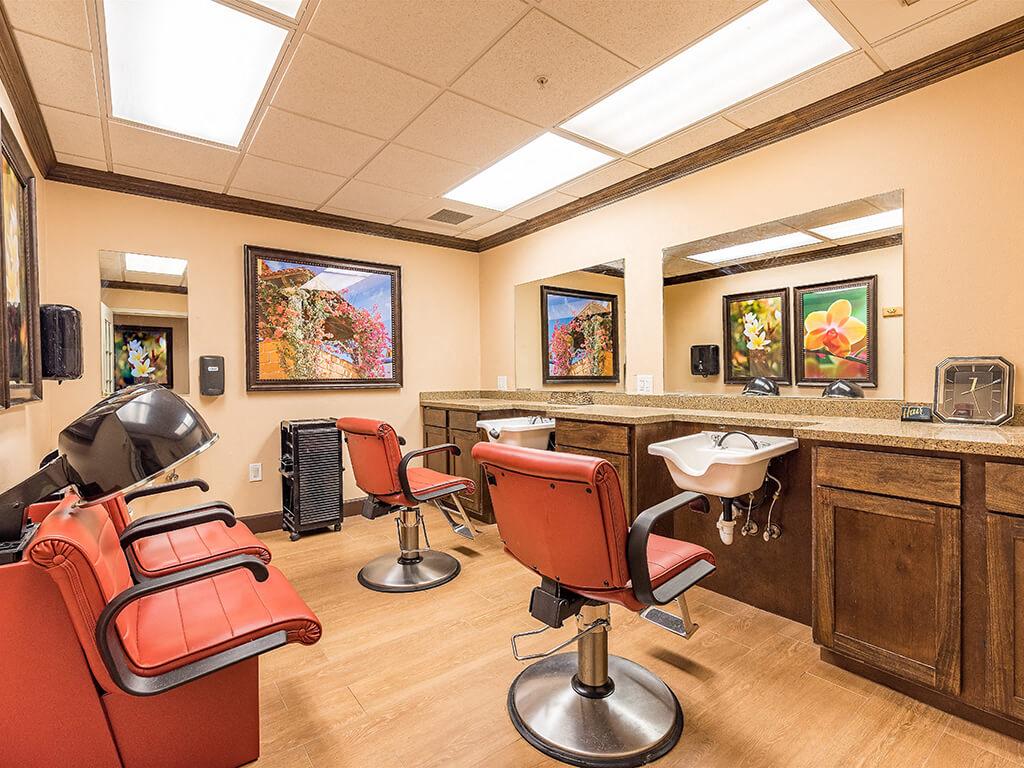On site Full Service Beauty Salon at Pacifica Senior Living Ellensburg, Washington