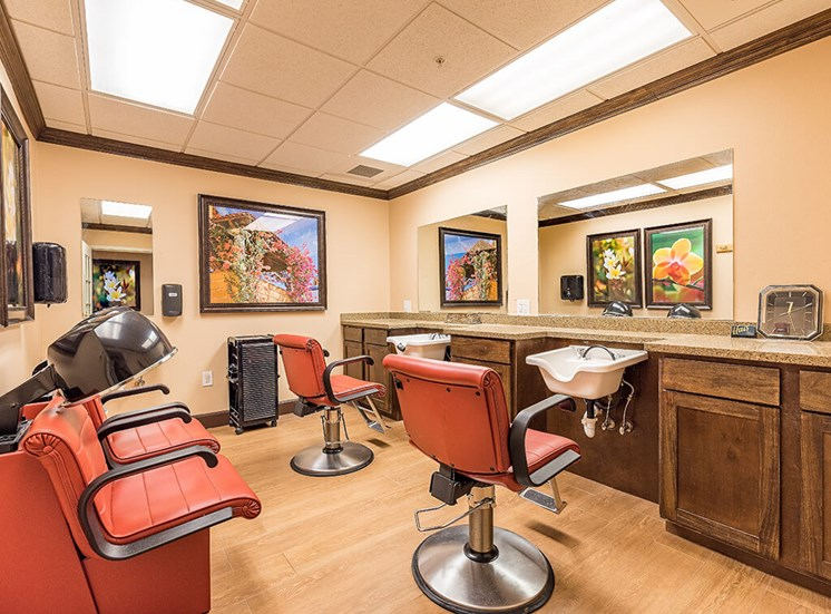 On site Full Service Beauty Salon at Pacifica Senior Living Ellensburg, Washington