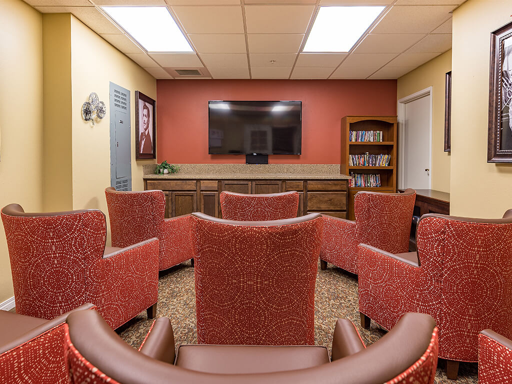 Common TV Room for Movies and Shows at Pacifica Senior Living Ellensburg, Washington, 98926