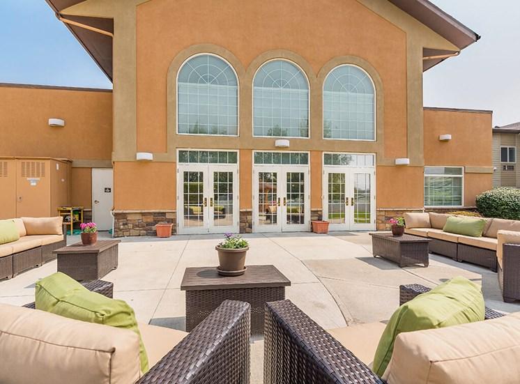 Magnificent Courtyard at Pacifica Senior Living Ellensburg, Ellensburg, WA