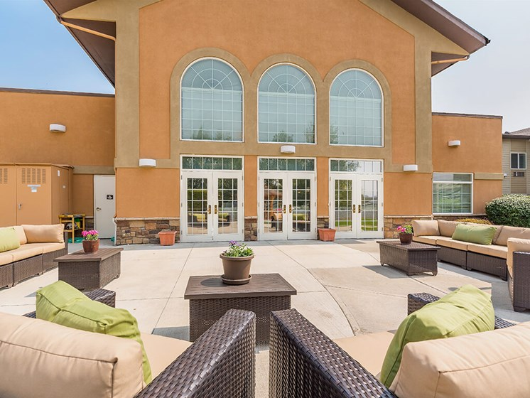 Magnificent Courtyard at Pacifica Senior Living Ellensburg, Ellensburg, WA