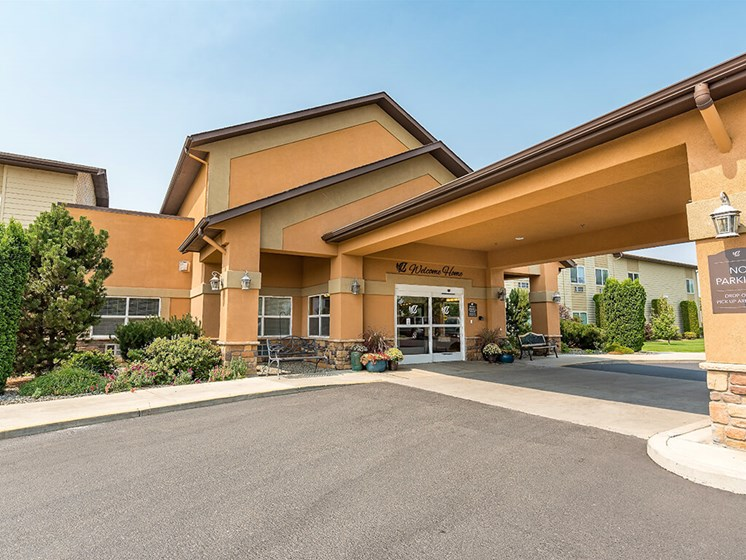 No-Step/Wheelchair Accessible Entry at Pacifica Senior Living Ellensburg, Ellensburg, Washington