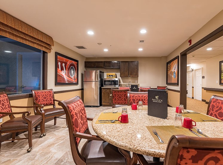 Dining Room With Energy Efficient Appliances at Pacifica Senior Living Ellensburg, Ellensburg, 98926