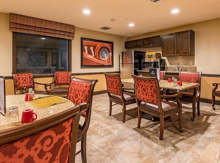 Fully Equipped Dining Area at Pacifica Senior Living Ellensburg, Ellensburg, Washington