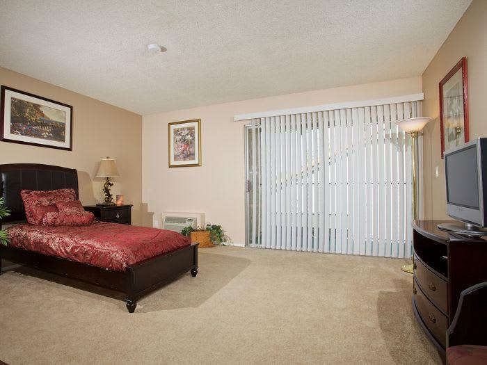 Bedroom Suite with Private Patioat Pacifica Senior Living Escondido
