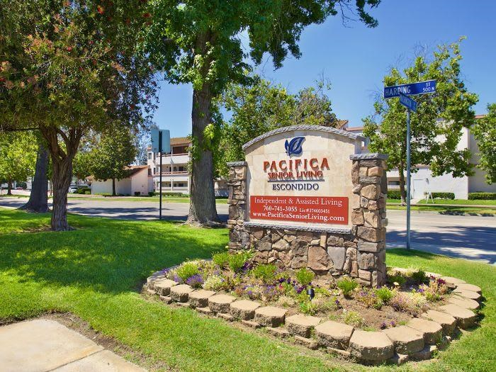 Exterior signage at Pacifica Senior Living Escondido