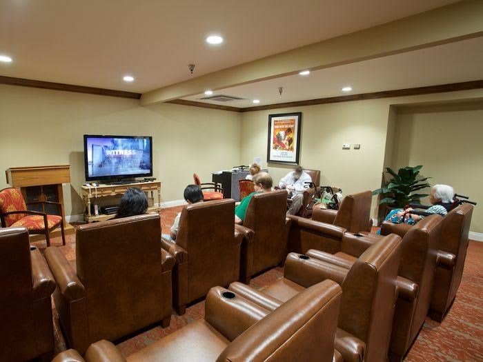 Media Movie room at Pacifica Senior Living Escondido