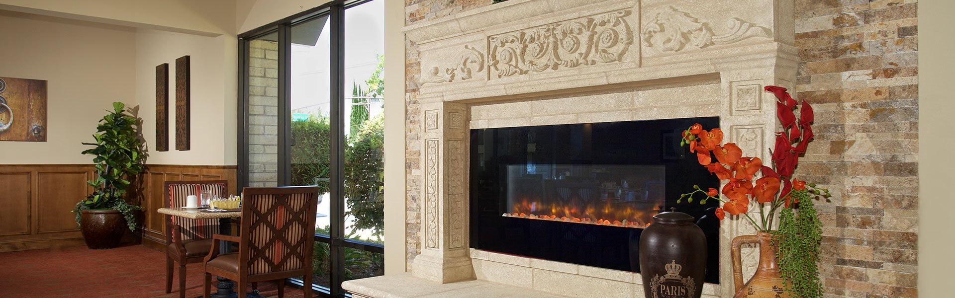 Clubhouse With Fireplace at Pacifica Senior Living Escondido, California, 92027