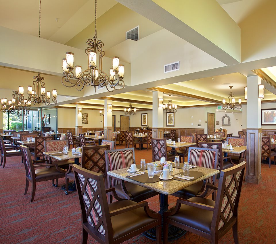Nutritious Dining Room at Pacifica Senior Living Escondido, Escondido