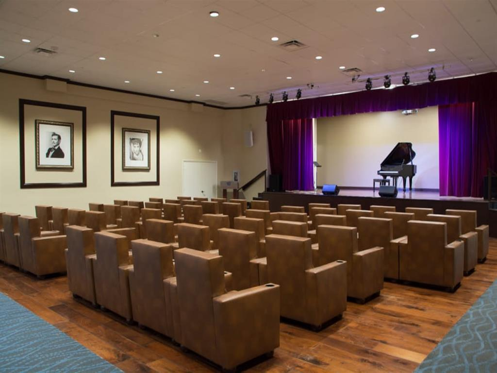 Movie theater at senior living facility in Lauderhill, Florida
