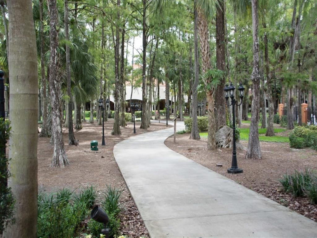Beautiful walking paths at our senior living facility in Lauderhill, Florida