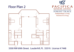 Two Bedroom Floor Plan Independent Living Assisted Living Florida