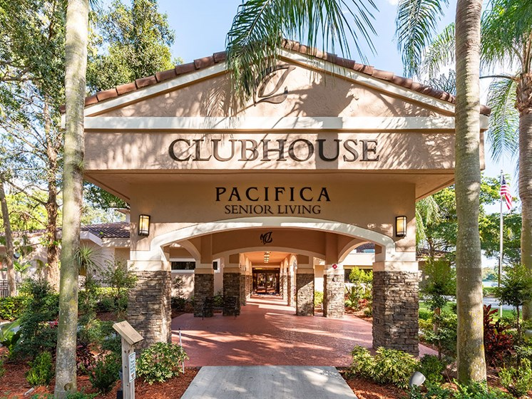 Modern Clubhouse With A Game Room at Pacifica Senior Living Forest Trace, Florida
