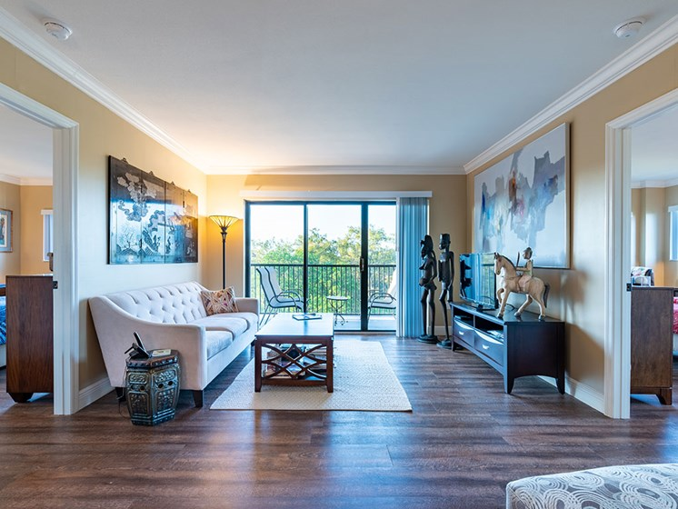 Spacious Living Room at Pacifica Senior Living Forest Trace, Lauderhill, FL, 33319